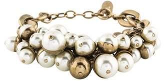 Christian Dior Mise en Faux Pearl Bracelet