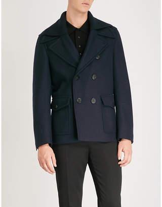 Neil Barrett Double-collar wool-blend jacket