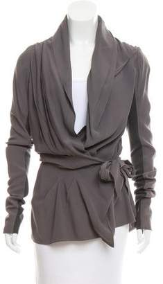 Rick Owens Pleated Wrap Top