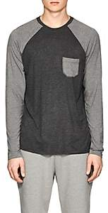 Barneys New York MEN'S JERSEY BASEBALL T-SHIRT-DARK GRAY SIZE S