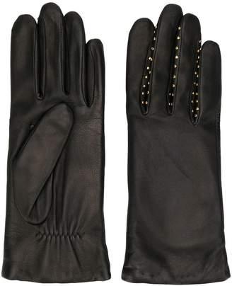 Agnelle studded leather gloves