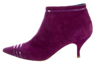 Marc by Marc Jacobs Pointed-Toe Suede Ankle Boots $95 thestylecure.com