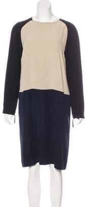 Max Mara Silk Long Sleeve Dress