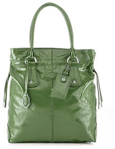 Tod's Restyled D-Bag Tote Media, Green