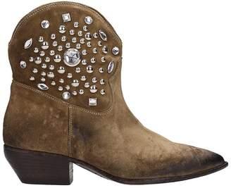 Elena Iachi Taupe Suede Boots