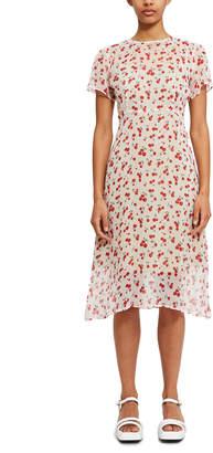 HVN Lindy Silk Chiffon Dress