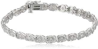 Xo Sterling Silver Diamond Bracelet (1/2 cttw)