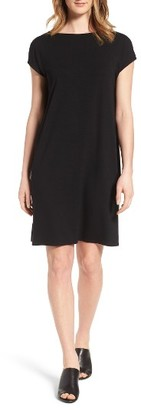 Petite Women's Eileen Fisher Jersey Shift Dress $178 thestylecure.com