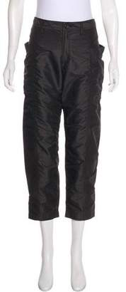 Issey Miyake Mid-Rise Cropped Pants