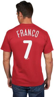 Majestic Men's Philadelphia Phillies Maikel Franco Player Name and Number Tee