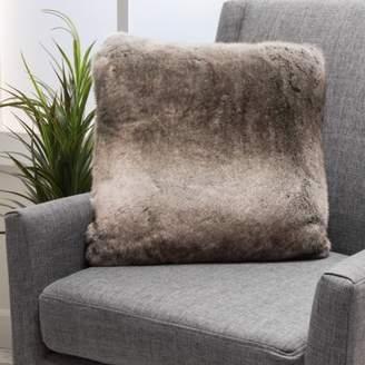 Ash ONLINE Noble House Ethan Faux Fur Throw Pillow, White