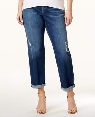 Michael Kors Plus Size Dillon Ripped Boyfriend Jeans