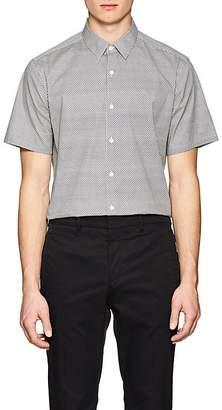 Theory Men's Irving Geometric-Print Cotton Shirt