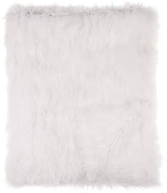 Adrienne Landau Fox Fur Throw - White