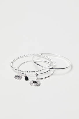 H&M 3-pack Bangles - Silver