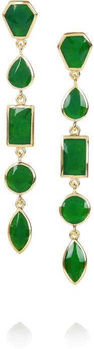 Isharya Bollywood Glam gold-plated enameled earrings