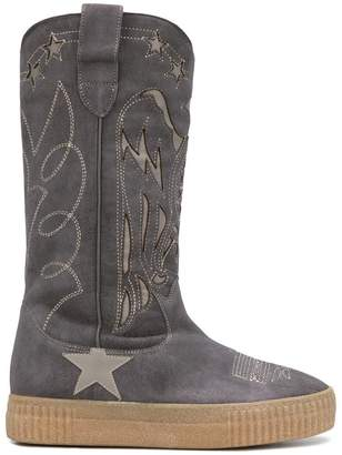 Golden Goose embroidered mid-calf boots