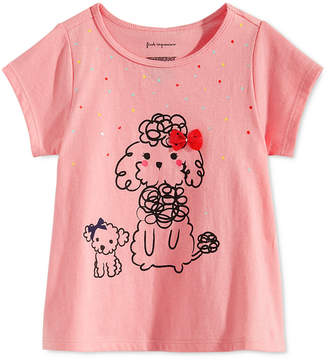 First Impressions Toddler Girls Poodle-Print Cotton T-Shirt