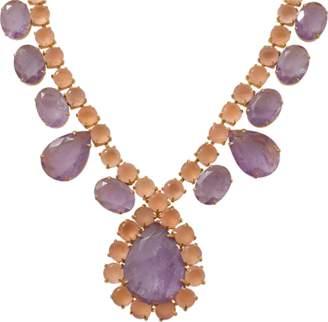 Bounkit JEWELRY Amethyst Rose Quartz Necklace