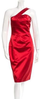 Michael Kors One-Shoulder Cocktail Dress