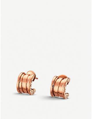 Bvlgari B.zero1 18kt pink-gold hoop earrings