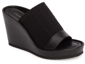 Women's Calvin Klein Hazel Platform Mule $138.95 thestylecure.com