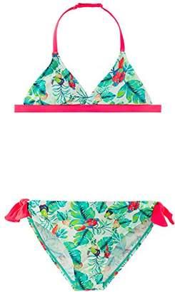 Schiesser Girl's Aqua Bustier Bikini,12-13 Years (Manufacturer Size: 164)