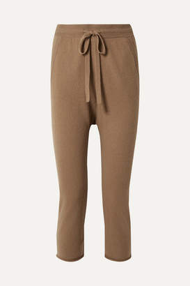 Nili Lotan Luna Cropped Straight-leg Cashmere Pants - Camel