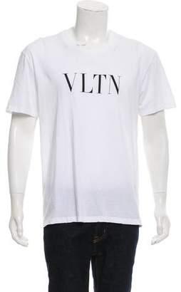 Valentino 2018 VLTN Logo Print T-Shirt
