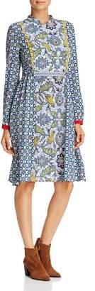 Max Mara Vite Multi-Botanical-Print Dress
