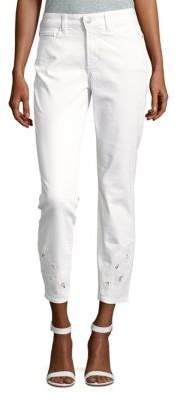 Clarissa Eyelet Ankle Jeans $124 thestylecure.com