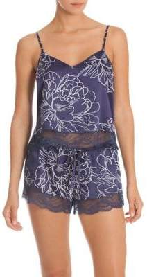 In Bloom Etched Floral Two-Piece Camisole and Shorts Lingerie Set