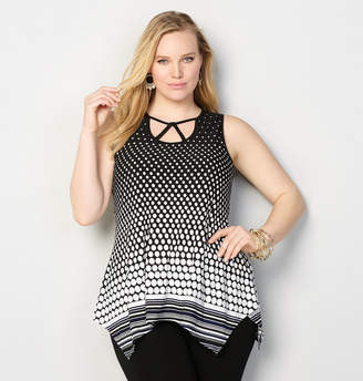 Avenue Dot Stripe Border Tank