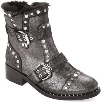 Sam Edelman Pewter Drea Studded Leather Ankle Boots