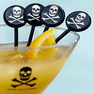 Skull & Crossbones Cocktail Picks, Set of 4