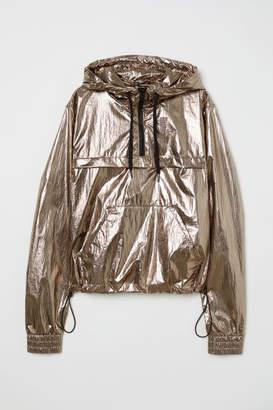 H&M Shimmering Metallic Anorak - Brown