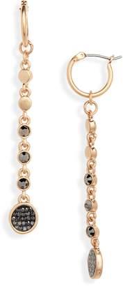 Treasure & Bond Pave Disc Linear Drop Earrings