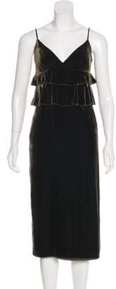 Mother of Pearl Velvet Midi Dress
