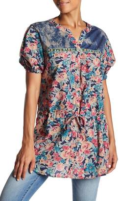 Couture Simply Patterned Short Sleeve Tunic