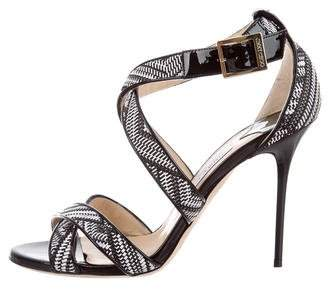 Jimmy Choo Woven High-Heel Sandals