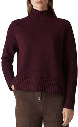 Whistles Funnel Neck Sparkle Sweater