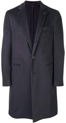 Lardini cashmere single-breasted coat