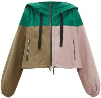 Colville - Colour Block Technical Cotton Blend Cropped Jacket - Womens - Multi