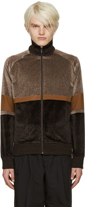 CMMN SWDN Brown Iggy Track Sweater $370 thestylecure.com