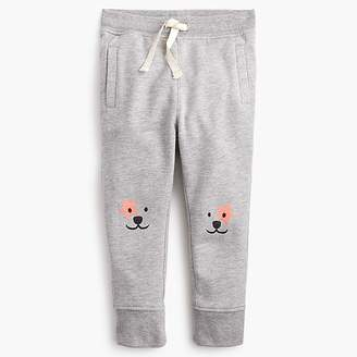 J.Crew Girls' sweatpant with puppy knees