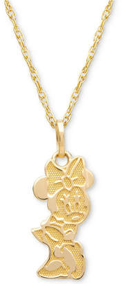 "Disney (ディズニー) - Disney Children Minnie Mouse Character 15"" Pendant Necklace in 14k Gold"
