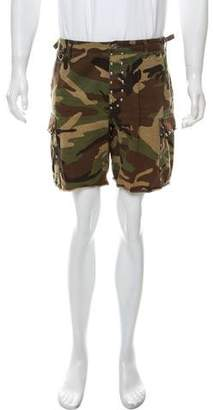 Saint Laurent 2016 Camouflage Cargo Shorts