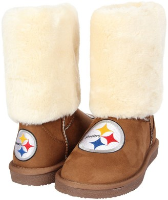 Unbranded Women's Cuce Tan Pittsburgh Steelers Fan Boot