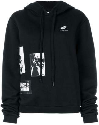 Damir Doma x Lotto patch-work hooded sweatshirt