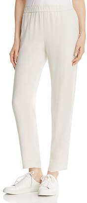 Eileen Fisher System Slouchy Silk Ankle Pants